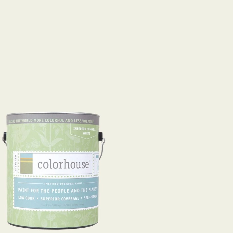 Colorhouse 1 Gal. Bisque .02 Eggshell Interior Paint inside Eggshell Paint For Bathroom
