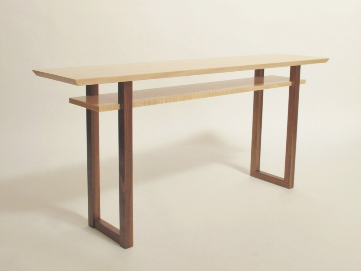 Contemporary Wooden Sofa Tables, Low Profile Media Console pertaining to Extra Long Console Table