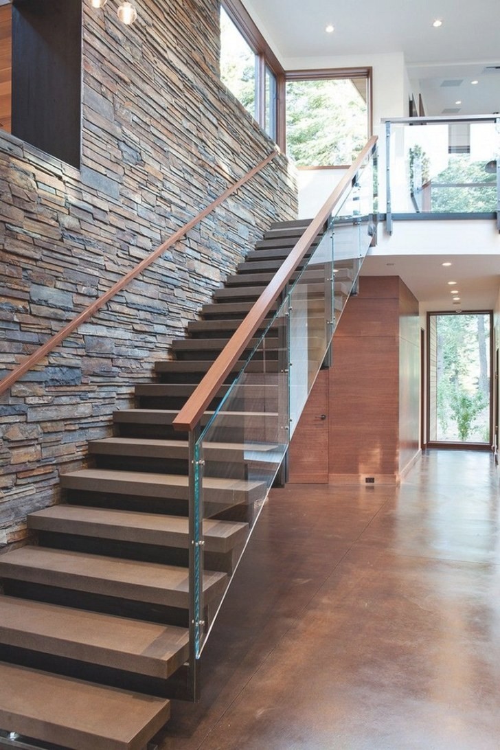 Cosy In The Chalet: Gorgeous Chalet-Like House With Modern pertaining to Stair Ideas For Home