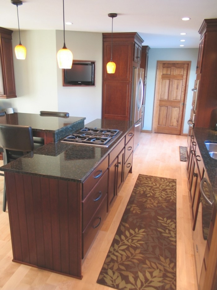 Creating An Open Kitchen In Carmel | Wrightworks Llc within Kitchen Island With Stove