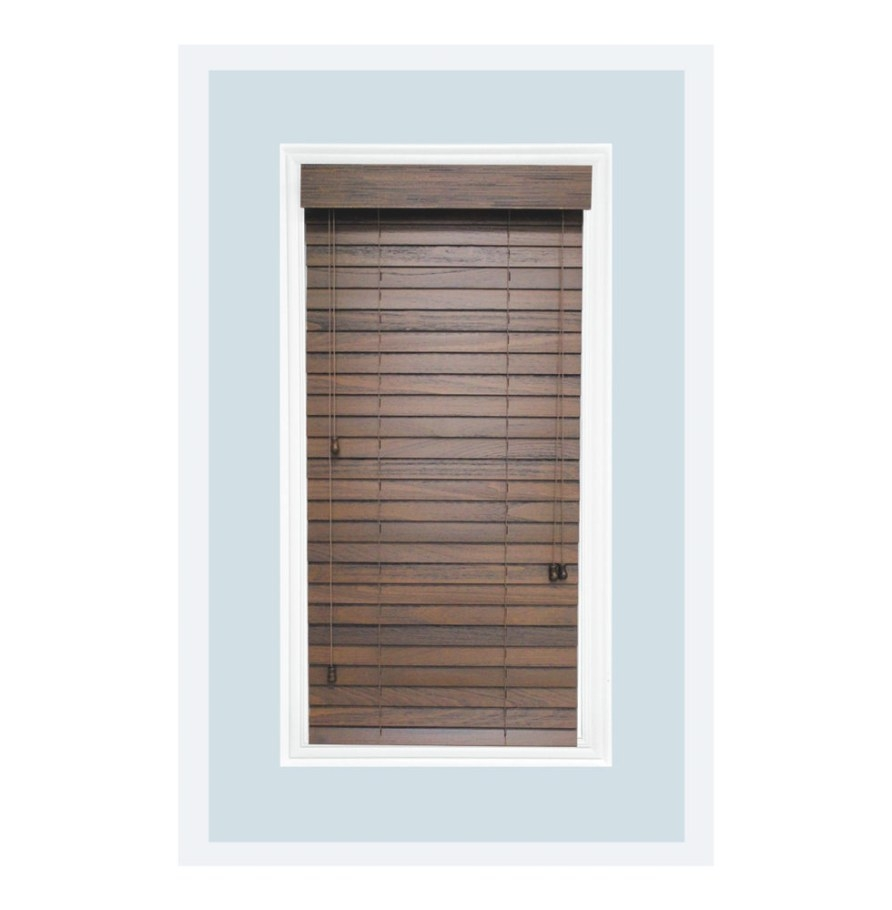 """Custom-Made 2"""" Real Wood Rustic Horizontal Window Blind with regard to Windows With Blinds Inside"""