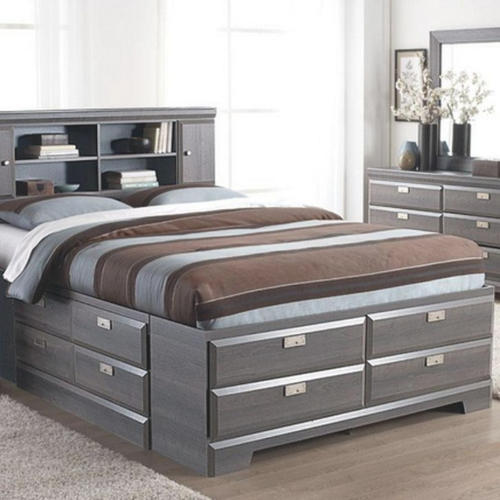 'Cypres' Queen Storage Bed - Sears   Sears Canada   Beds with regard to Queen Platform Bed With Storage And Headboard