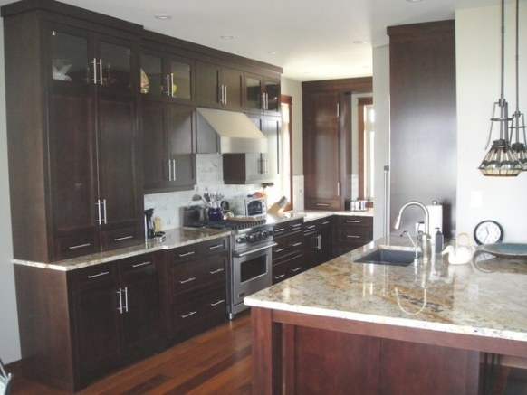 Dark Brown Kitchen intended for Black And Brown Kitchen