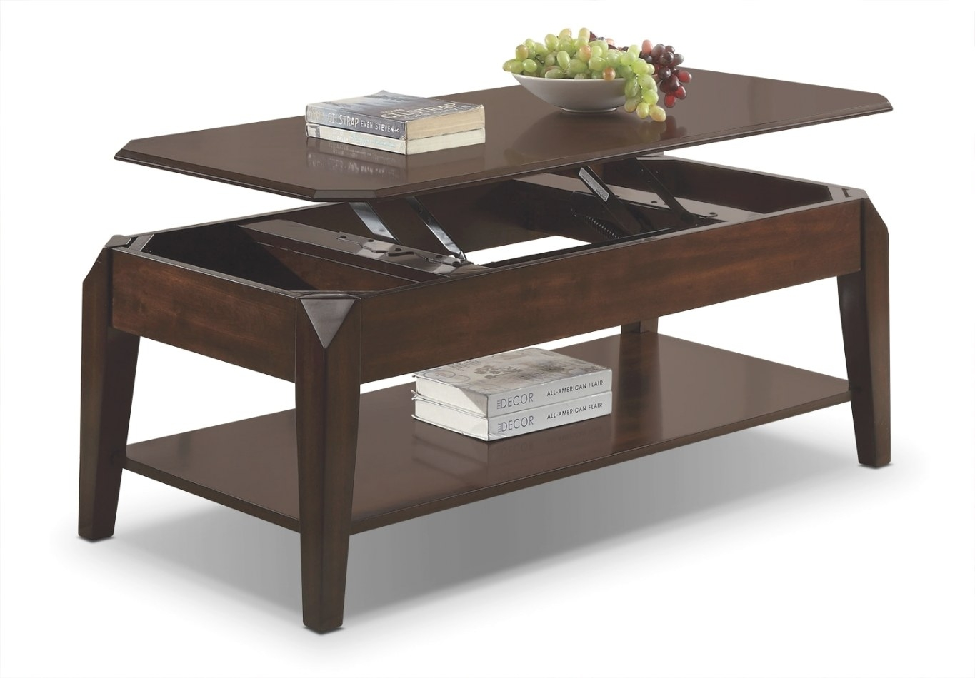 Docila Lift-Top Coffee Table - Espresso | Leon'S inside Lift Top Coffee Tables