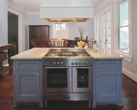 Double Oven Range | Houzz with Kitchen Island With Stove