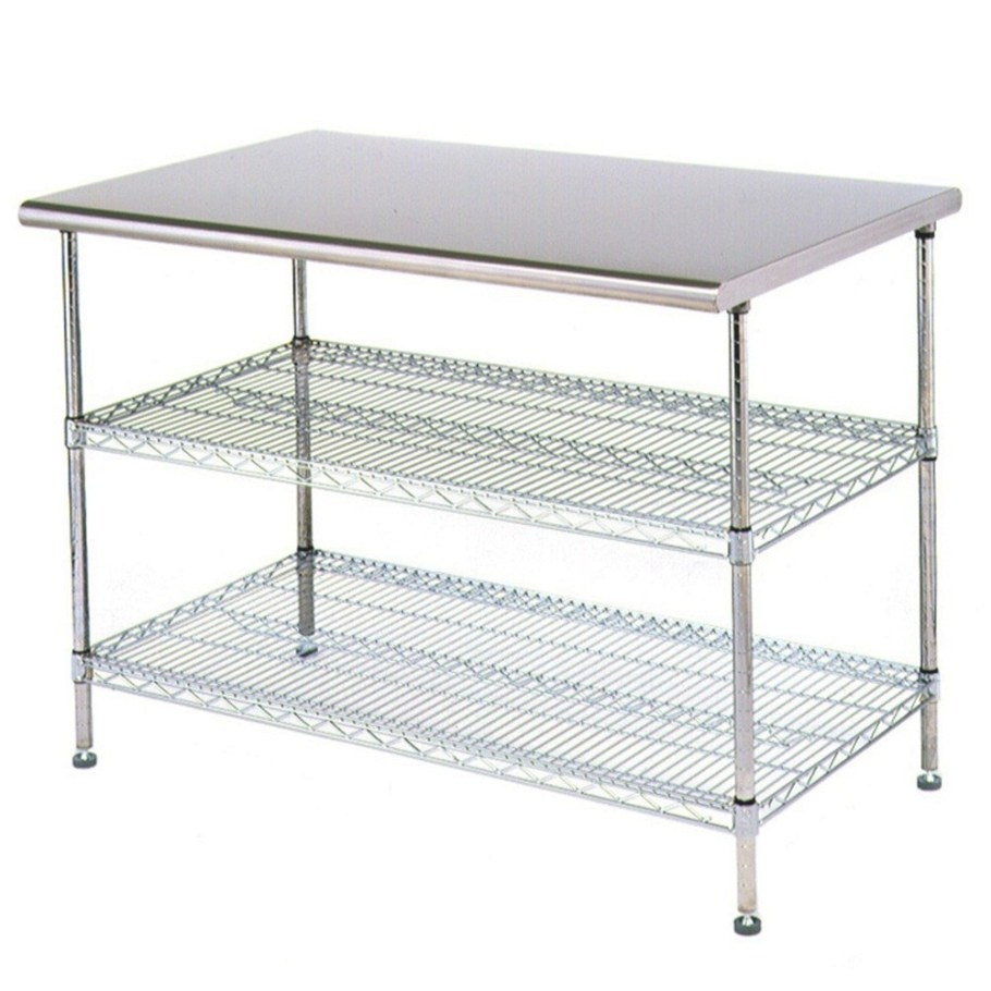 "Eagle Group T2436Ebw 24"" X 36"" Stainless Steel Table With regarding Stainless Steel Table Top"