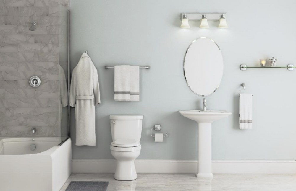 Eva Collection In Brushed Nickel – Bath – The Home Depot regarding Mixing Chrome And Brushed Nickel Finishes In Bathroom