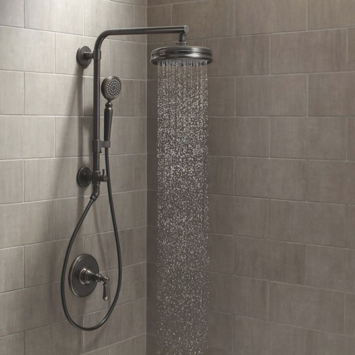 Faucet | Artifacts Hydrorail Custom Shower System inside Oil Rubbed Bronze Shower Head