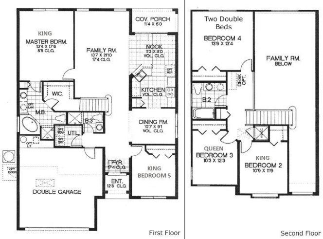 Florida Vacation Rental House At Emerald Island With in 5 Bedroom Floor Plans