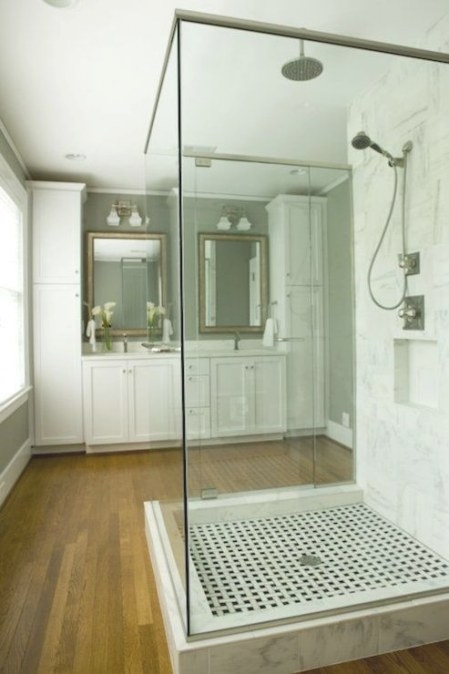 Freestanding Shower - Transitional - Bathroom - Twin Companies for Stand Alone Vanities For Bathrooms
