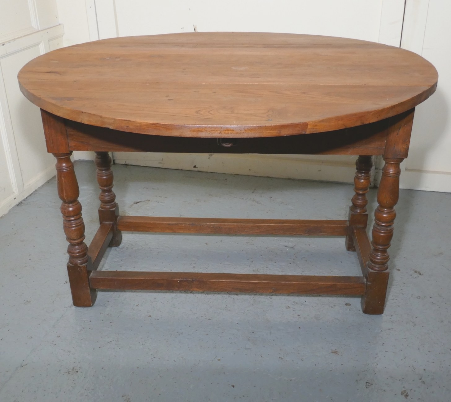 French Country Elm Drop Leaf Table, Kitchen Dining Table regarding Drop Leaf Kitchen Table