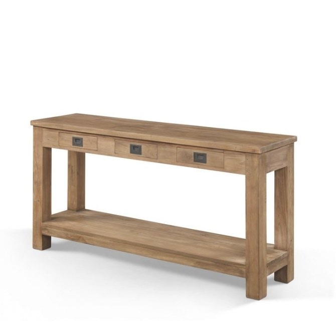 Furniture-Long-And-Narrow-Oak-Console-Table-With-Storage with regard to Extra Long Console Table