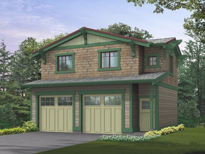Garage Apartment Plans   Craftsman-Style Garage Apartment pertaining to How Big Is A 2 Car Garage