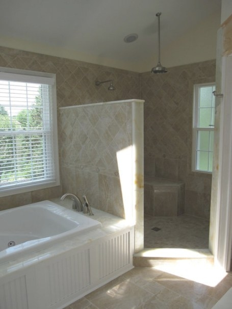 Glassless Shower Home Design Ideas, Pictures, Remodel And in Walk-In Shower Ideas