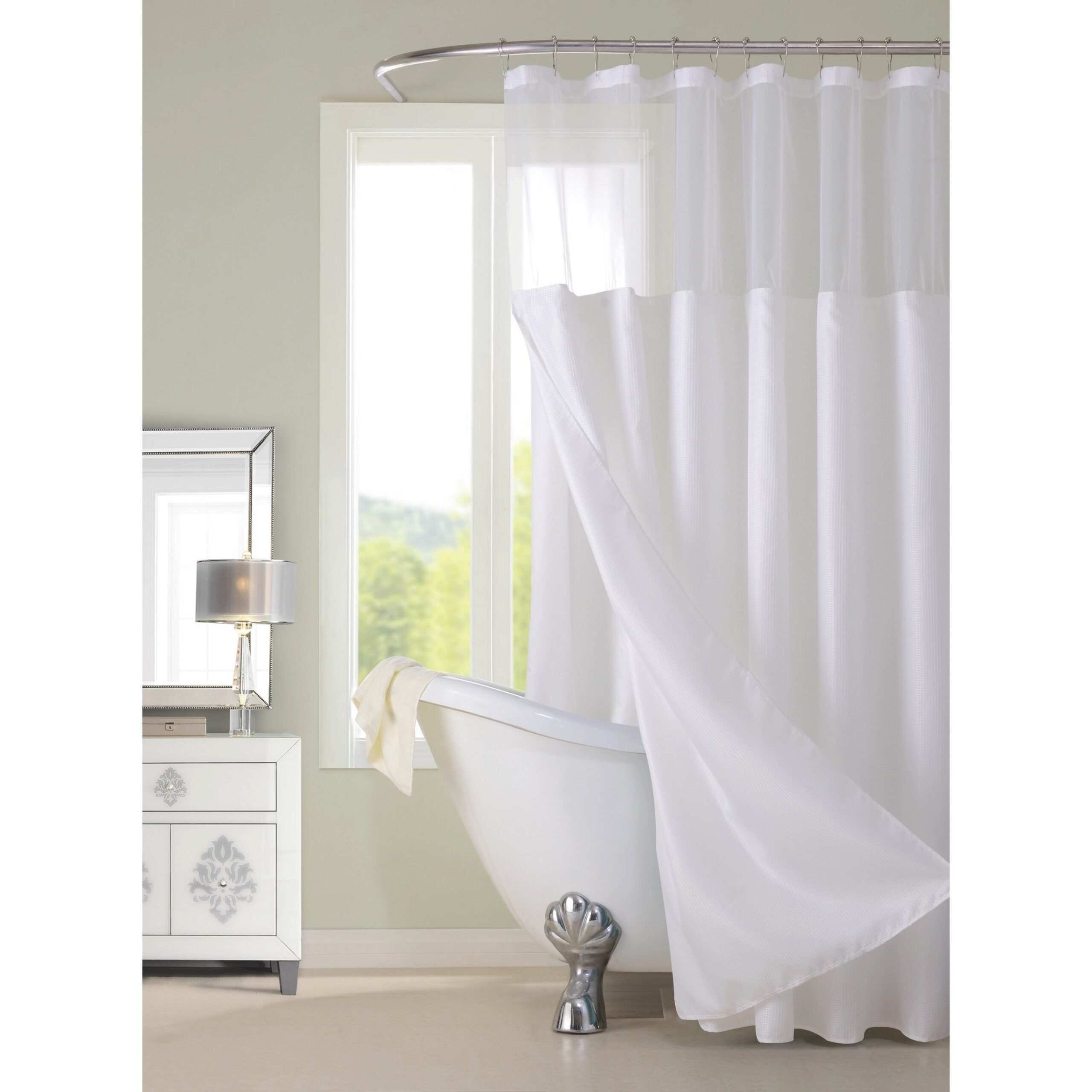 Gracewood Hollow Asimov Hotel Shower Curtain With with 84 Inch Shower Curtain