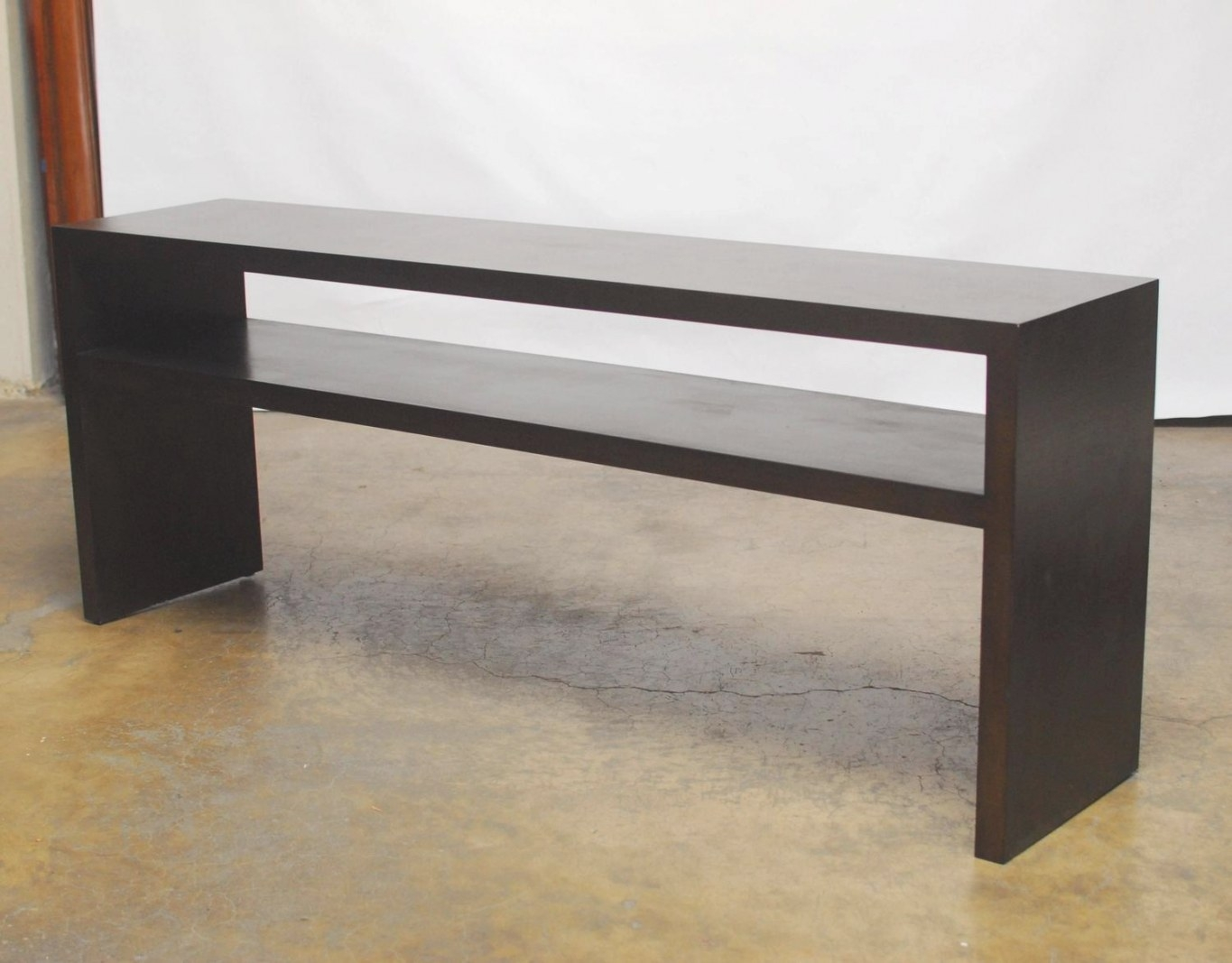 Grasscloth Parson'S Style Textured Console Table At 1Stdibs regarding Extra Long Console Table