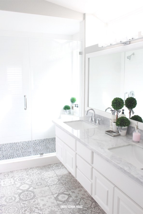 Gray And White Bathroom - Smart School House inside Grey And White Bathroom