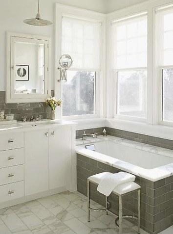 Gray And White Bathroom | Stunning | Content In A Cottage inside Grey And White Bathroom