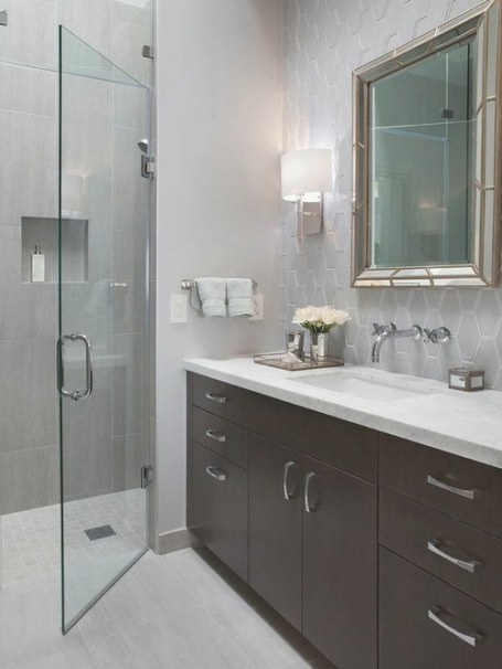 Grey And White Bathroom | Houzz with Grey And White Bathroom