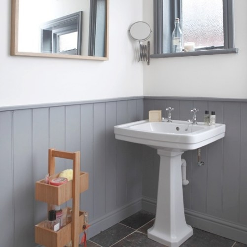 Grey And White Panelled Bathroom | Bathroom Decorating intended for Grey And White Bathroom