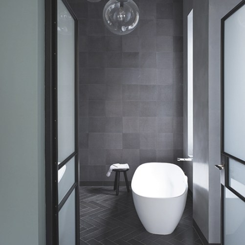 Grey Bathroom Ideas To Inspire You | Ideal Home intended for Dark Gray Tile Bathroom