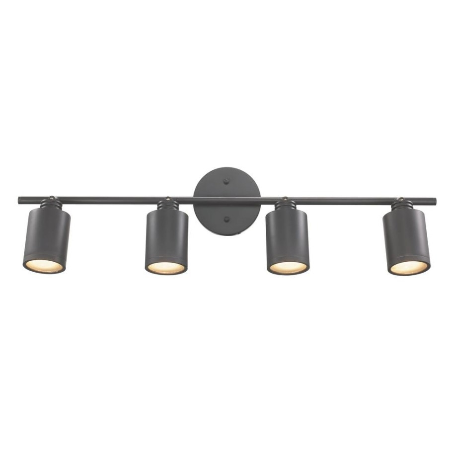 Hampton Bay 4-Light Bronze Led Dimmable Fixed Track with regard to Led Track Lighting Kits