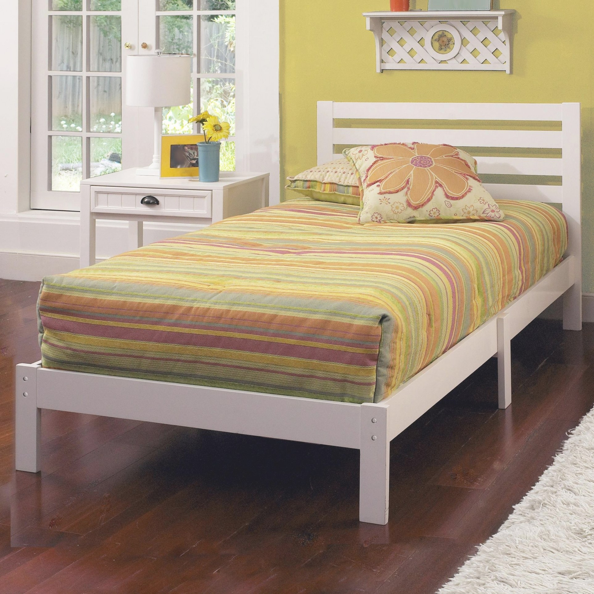 Hillsdale Wood Beds Twin Platform Bed Set   A1 Furniture intended for Low Profile Bunk Beds