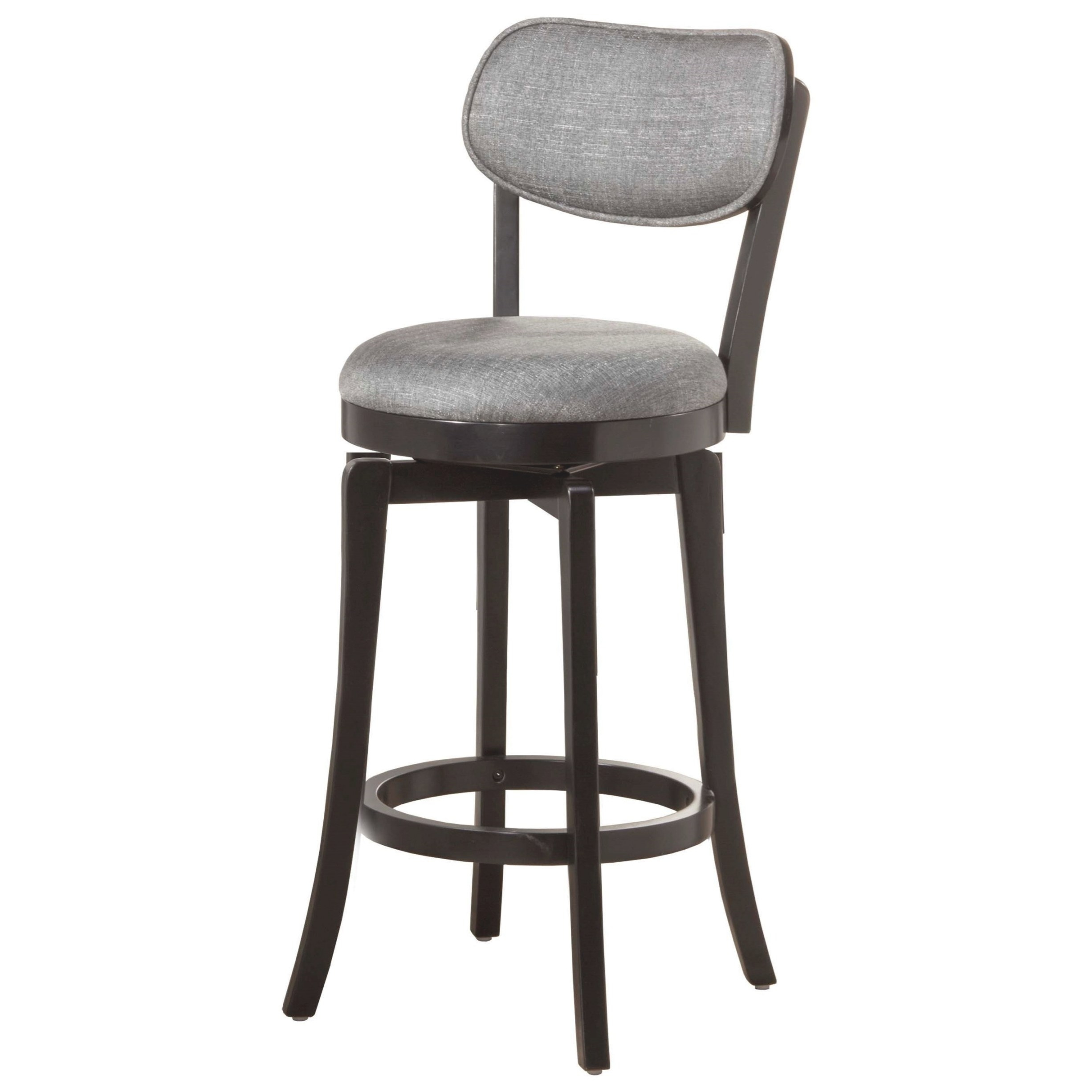 Hillsdale Wood Stools Swivel Counter Stool With Gray Full with Swivel Bar Stools With Backs