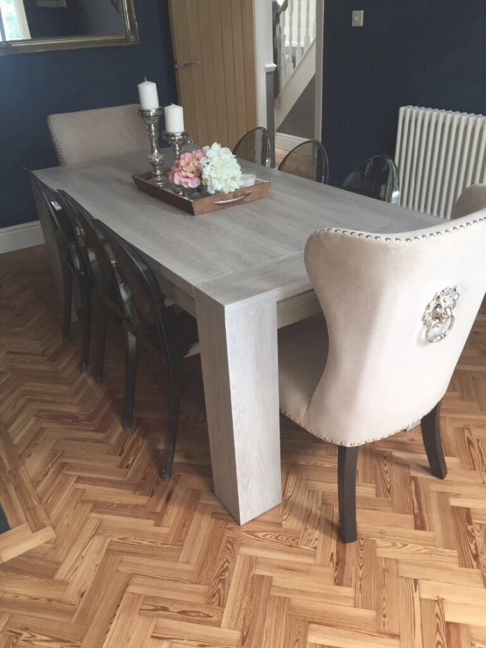 Homesense Luxury Feature Dining Chairs (2) | In Whitchurch within Restaurant Booths For Home
