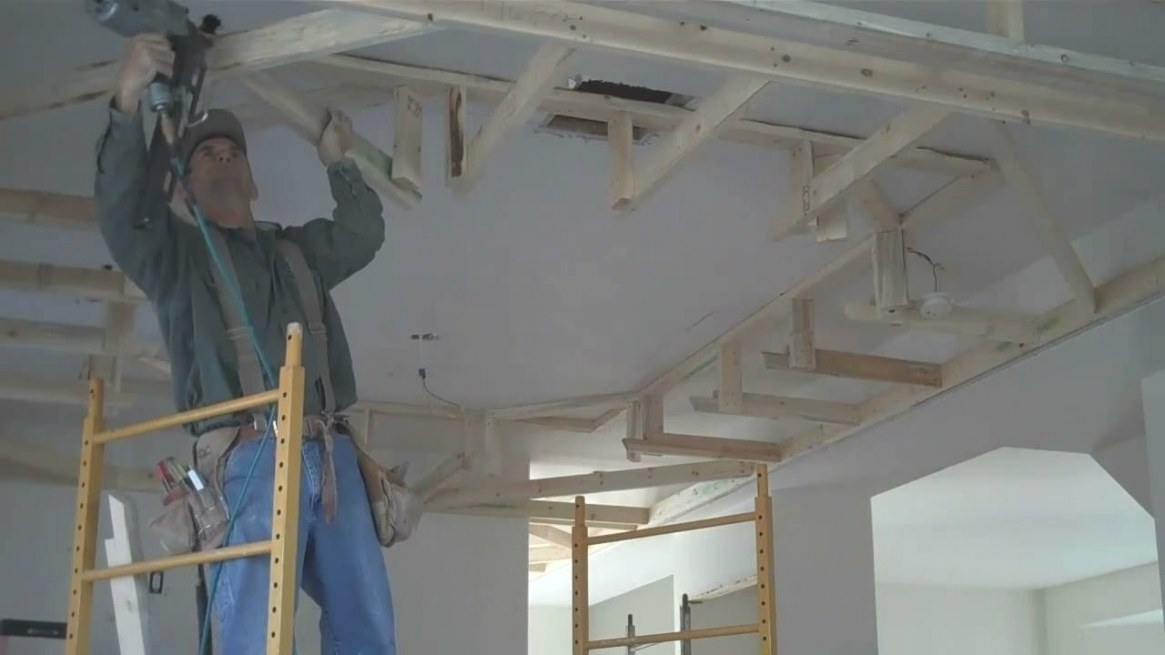 How-To Frame Drop Box Ceilings: Home Renovation Tips throughout Drop Ceilings In Homes