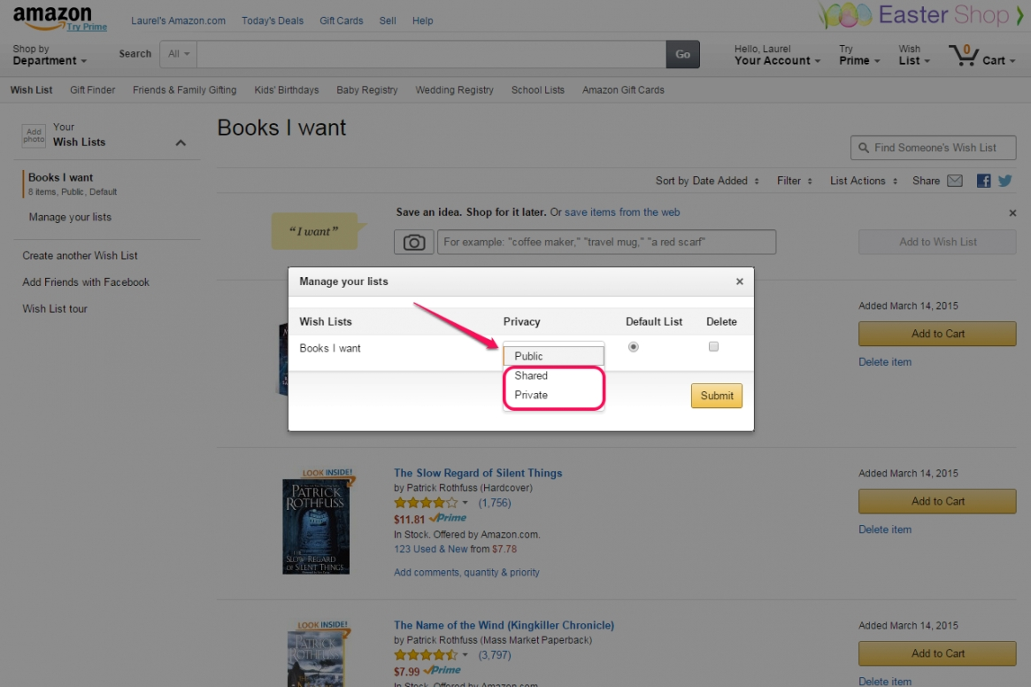 How To Make My Amazon Wish List Private | Techwalla within Amazon Find A Wishlist