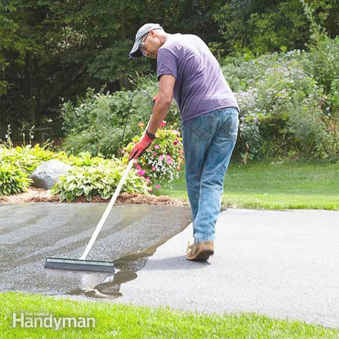 How To Seal An Asphalt Driveway   Family Handyman within How Often Should You Replace Carpet