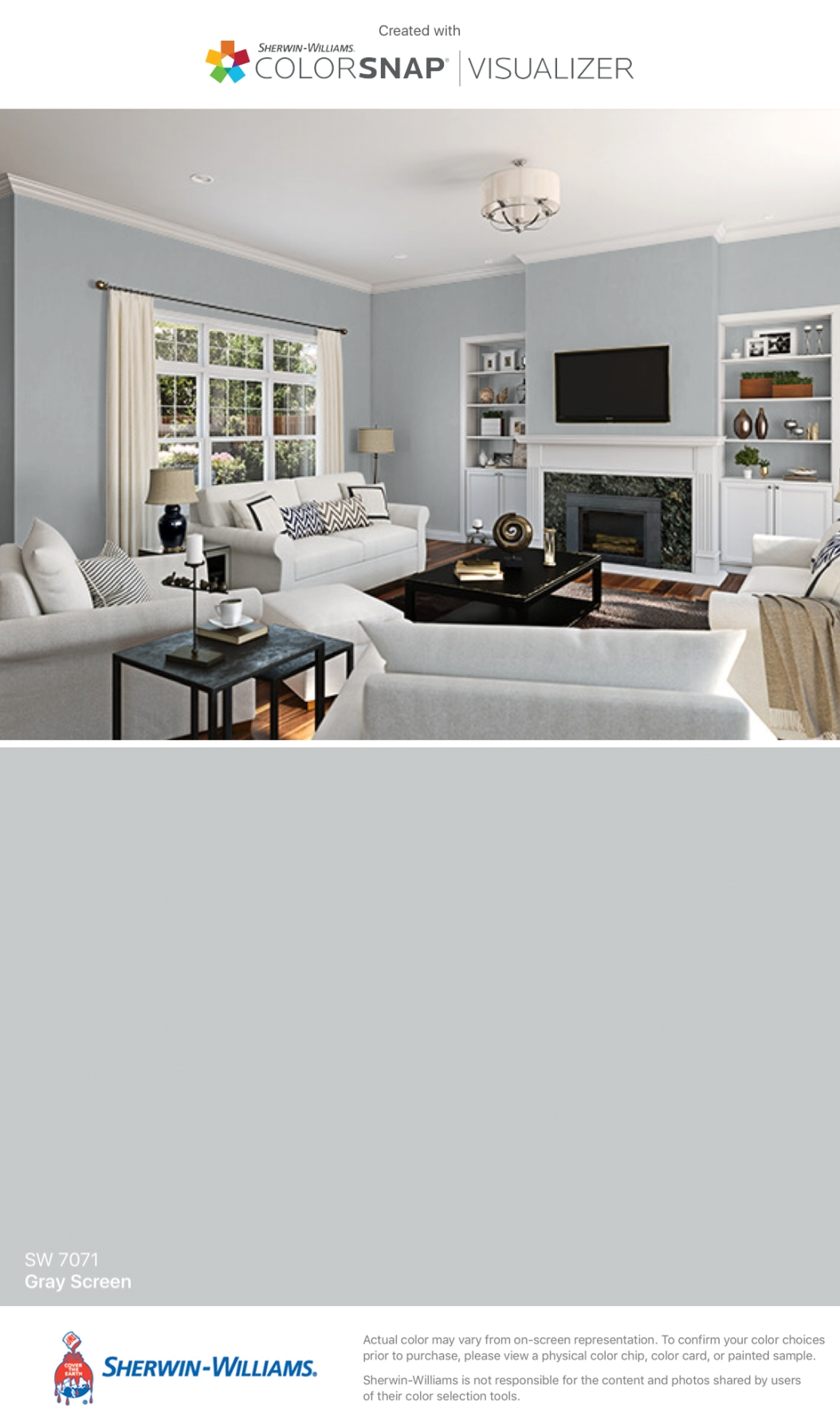 I Found This Color With Colorsnap® Visualizer For Iphone intended for Sherwin Williams Gray Screen