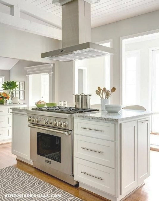 I Really Like The Idea Of The Range Cooker In An Island with Kitchen Island With Stove