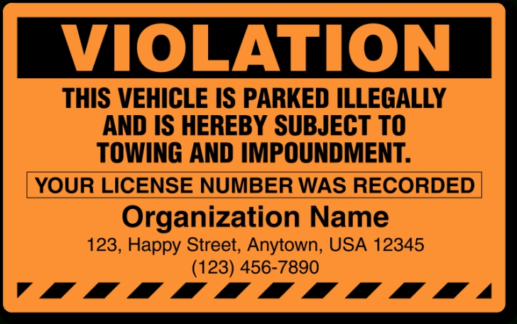 Illegal Parking Stickers | Parking Lot Stickers intended for Is It Illegal To Remodel Without A Permit