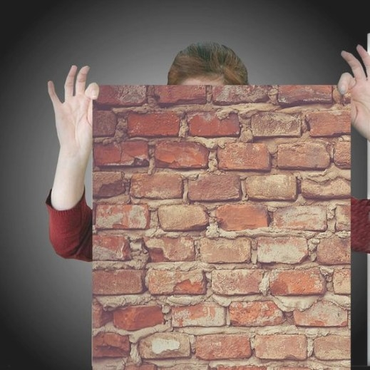 Industrial Brick Easy Peel And Stick Wallpaper 8' Panel with Peel And Stick Wall Panels