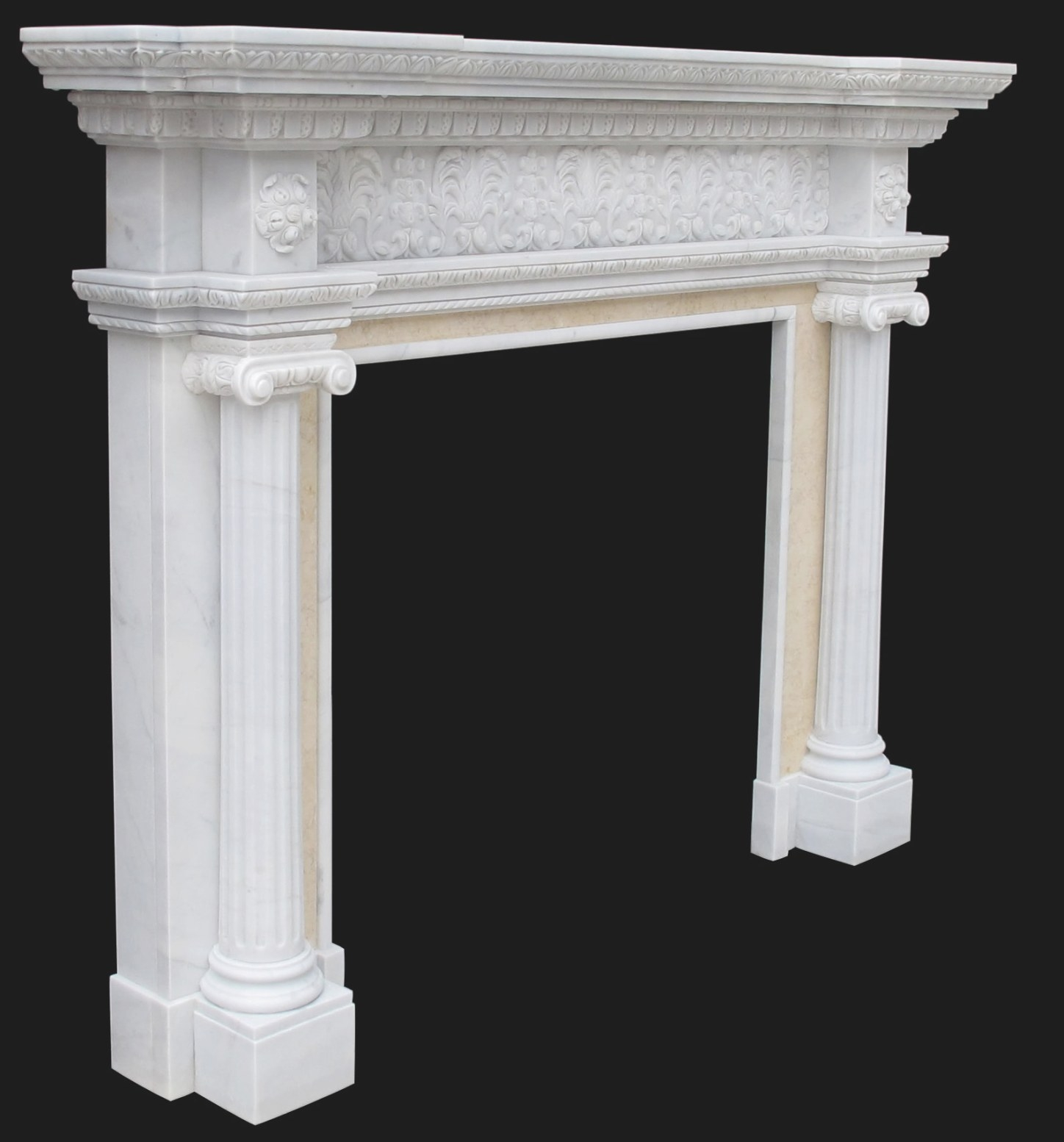 Ionic Albany New York Fireplace Sale intended for Fireplace Mantels For Sale