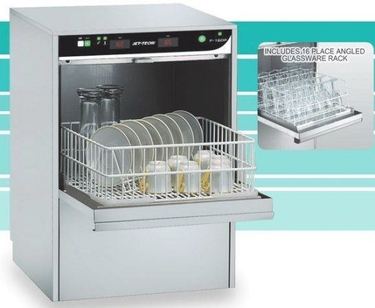 Jet Tech F-16Dp Compact High-Temp Undercounter Commercial for Industrial Dishwasher For Home