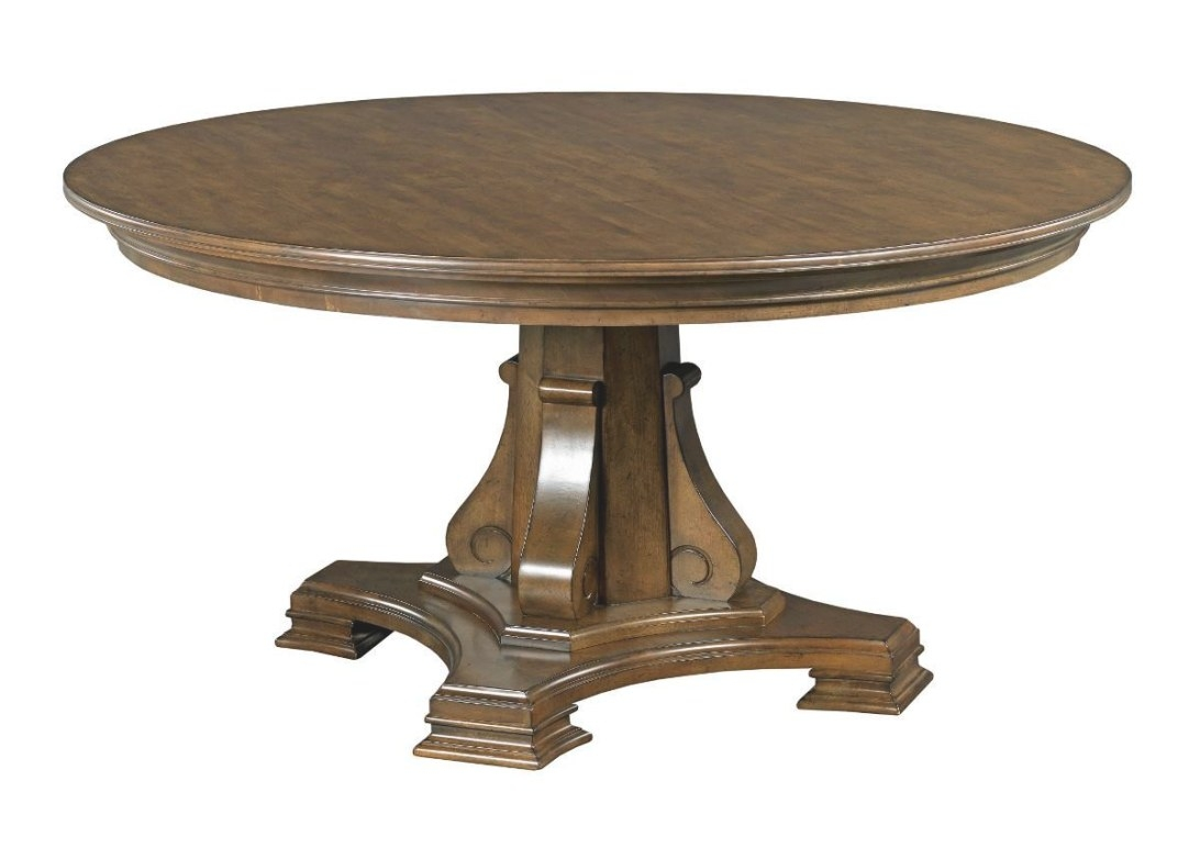"Kincaid Furniture Portolone Stellia 60"" Round Solid Wood in Round Wood Dining Table"