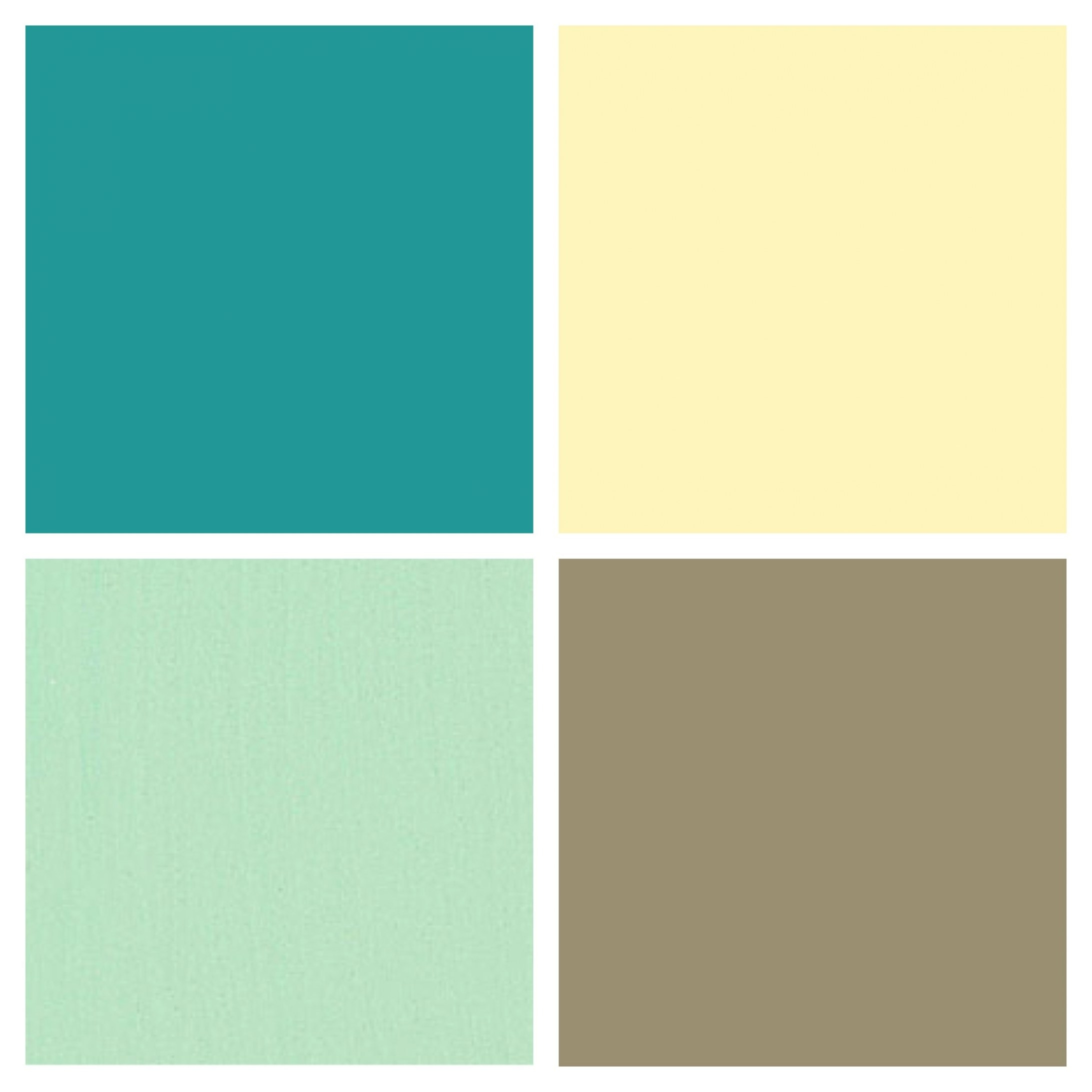 Kitchen Color Palette- Butter / Country Yellow, Mint pertaining to Blue And Brown Color Palette