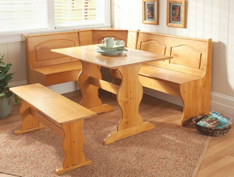 Kitchen Nook Corner Dining Breakfast Set Table Bench Chair with regard to Restaurant Booths For Home