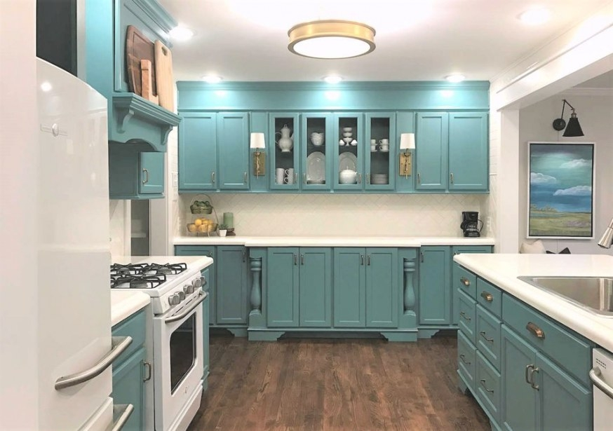 Kitchen Paint Color Ideas That Are Beyond Gorgeous with Teal And Gray Kitchen