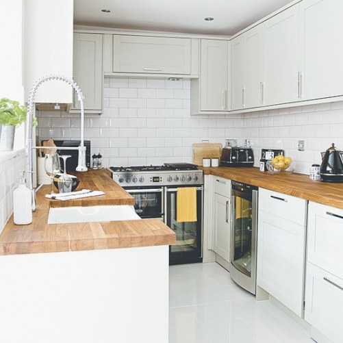 Kitchen Worktops - Our Pick Of The Best | Ideal Home regarding Small U Shaped Kitchen