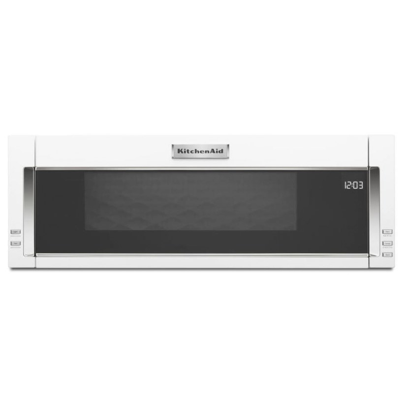 Kitchenaid 1.1-Cu Ft Over-The-Range Microwave With Sensor inside Low Profile Over The Range Microwave