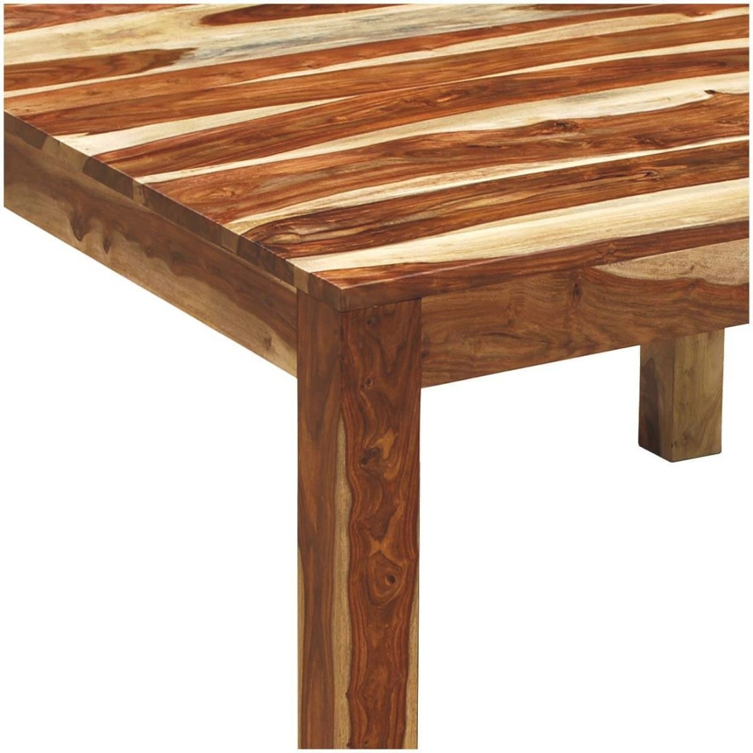 Kluane Solid Wood Counter Height Square Dining Table For 8 with 8 Person Dining Table
