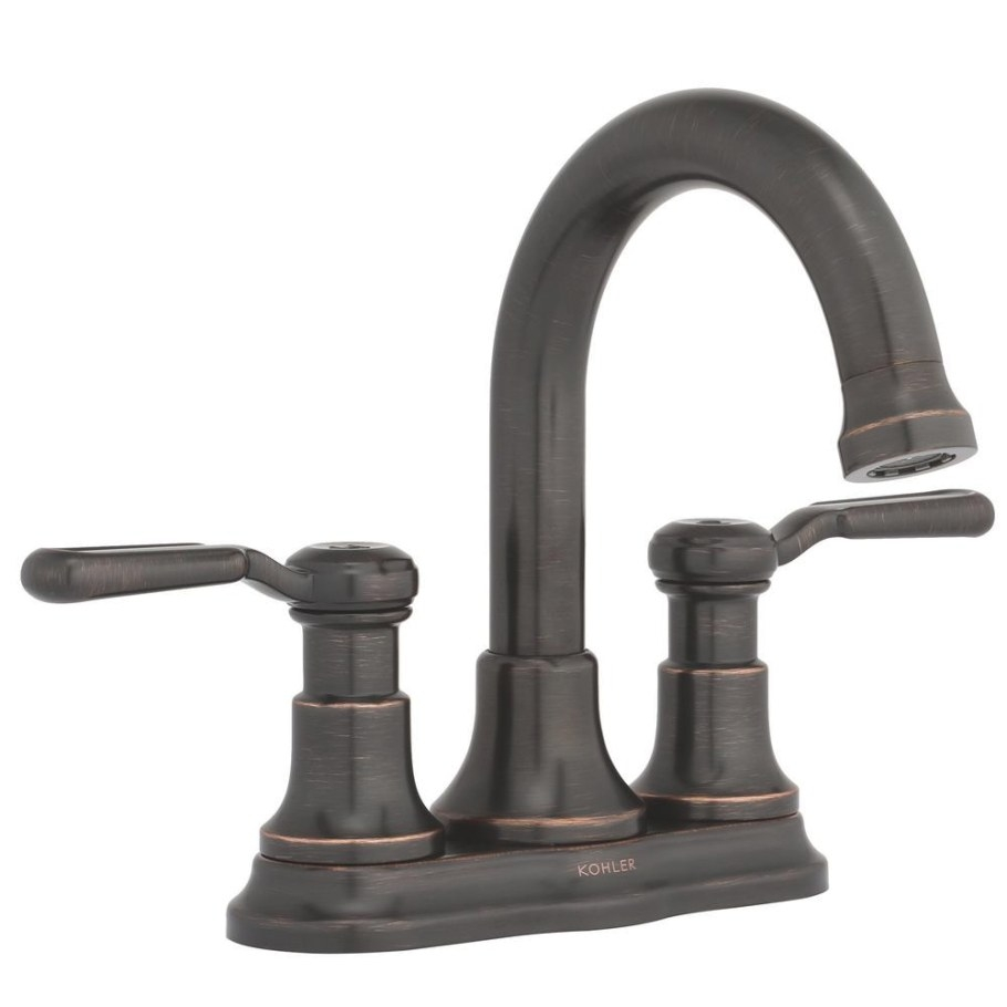 Kohler Worth 4 In. Centerset 2-Handle Bathroom Faucet In in Oil Rubbed Bronze Kitchen Faucet