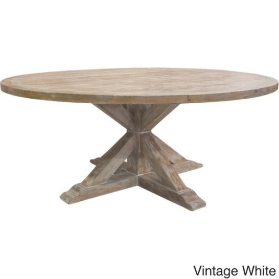 La Phillippe Reclaimed Wood Round Dining Table - Overstock in Round Wood Dining Table