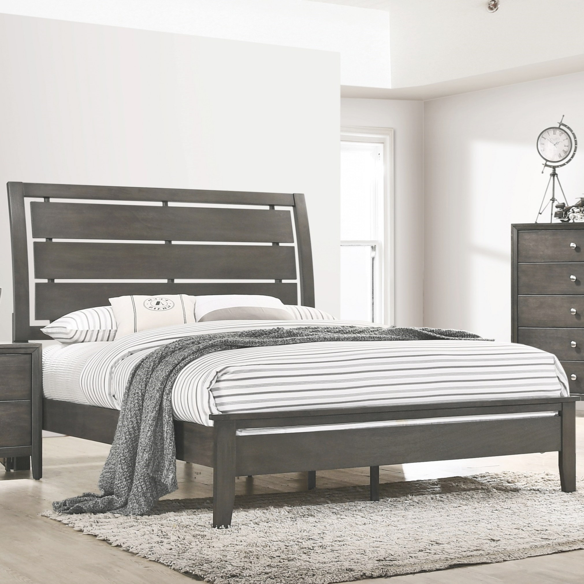 Lane Home Furnishings Grant Transitional Queen Bed With within Low Profile Bunk Beds