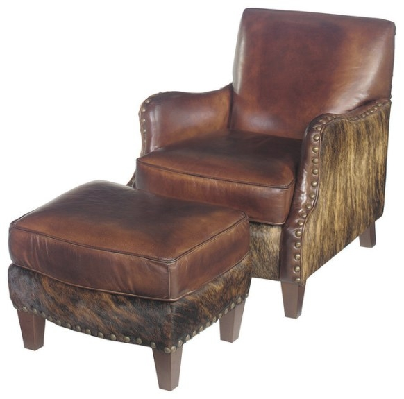 Lanelli Club Chair With Ottoman - Southwestern - Armchairs regarding Armchairs And Accent Chairs