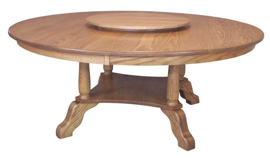 Large Round Dining Table Traditional Country Solid Oak for Round Wood Dining Table